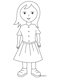 Small Picture Girl Colouring Page FunyColoring