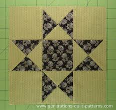 Ohio Star Quilt Block: Illustrated Step-by-Step Instructions in 5 ... & The finished Ohio Star quilt block Adamdwight.com