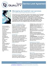Factsheet Service Level Agreement