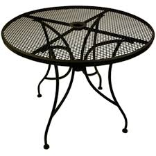 Round outdoor metal table Bistro Table Fashion Seating Wrought Iron Round Table Top With Base 36