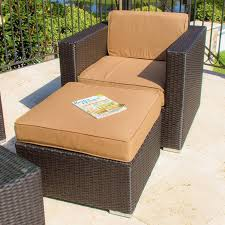 patio couch set avery island resin wicker patio club chair with small ottoman