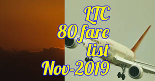 Air India Ltc 80 Fare List From November 2019