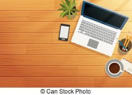office table top view. Top View Office Wooden Desk In Morning Table K