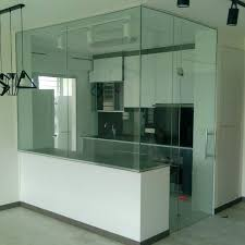tempered glass kitchen panel and swing door home services renovations on carou