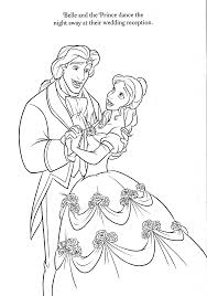 Beauty And The Beast Coloring Pages Disney With Disney Wedding