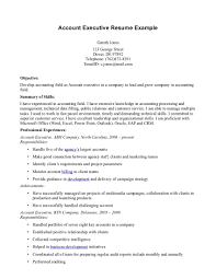 Uncategorized Account Executive Resume Summary With Objective And