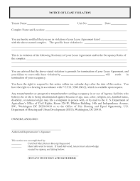 Best Photos Of Notice Of Violation Letter Template For Tenants