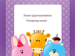 Happy Birthday For Your Children Powerpoint Template