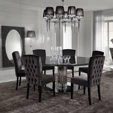 contemporary round dining table minimalist dining room furniture italian modern designer chrome round dining