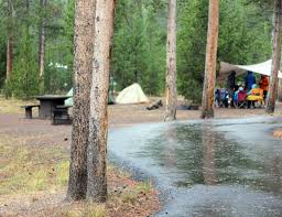 On a little tour of investigation in 1910, the writer looked over three old camp sites. Madison Campground Yellowstone National Park U S National Park Service