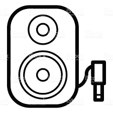 sound system clipart. music column audio speakers icon. stereo sound system cinema column. royalty-free clipart