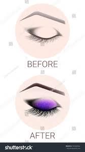 design eyebrows makeup closed female eye stock vector 723282904 design of eyebrowake up the