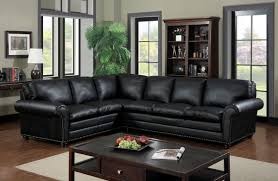 Transitional Style Living Room Furniture Furniture Of America Cm6808 Payette Transitional Black Bonded