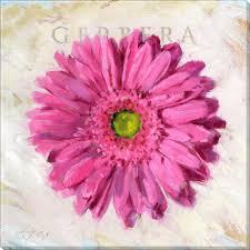 bright pink gerbera daisy canvas prints on gerbera daisy canvas wall art with pink gerbera art print