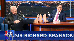 """Sit Back, Relax"""" - Sir Richard Branson's Space Travel Advice For Jeff Bezos  - YouTube"""