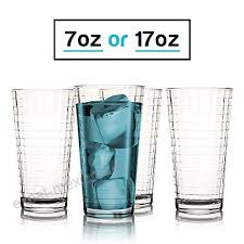 17 oz highball glasses set of 4 coolers for dinner parties and everyday drinking