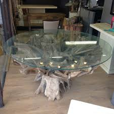 Reclaimed Teak Dining Table Stunning Reclaimed Teak Root Dining Table With Kubu Natural Wicker