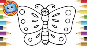 Never discourage them in this. How To Draw A Butterfly For Kids Simple Drawing Game Animation Butterfly Drawing Easy Drawings Easy Drawings For Kids
