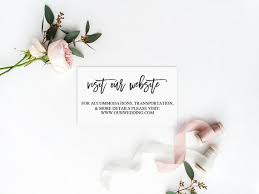 Wedding Website Template Extraordinary Wedding Website Card Wedding Website Template DIY Wedding