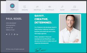 Resume Website Interesting Simple Resume Template Bootstrap Best Resume Website Examples