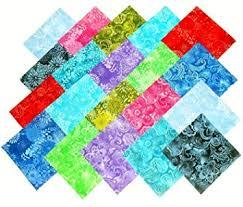 "Amazon.com: 80 5  Batik Tonal Quilting Fabric Charm Pack & 80 5"" Batik Tonal Quilting Fabric Charm Pack Adamdwight.com"