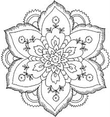 Small Picture Cool Flower Coloring Pages Flower Coloring Page