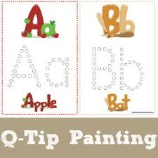 Small Picture Q Tip Painting Alphabet Printables 1111