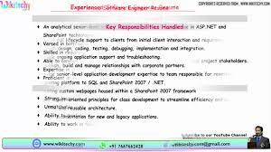 Experienced Software Engineer Resumes Experienced Software Engineer Resume Resume Format For Software Engineer