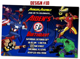 superheroes birthday party invitations avengers assemble superhero birthday party photo invitations