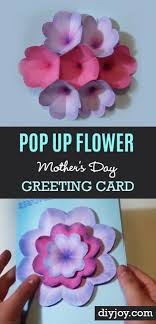 Creative Diy Mothers Day Card With Pop Up Flowers Cool Homemade