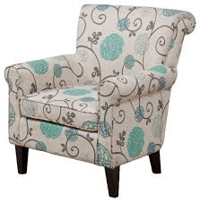 Blue Patterned Chair Adorable Roseville Floral Design Club Chair Mediterranean Armchairs And