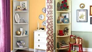 corner speaker shelf home depot adorable floating shelves diy small wall for and made of wooden