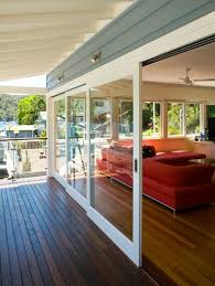 dramatic sliding doors separate. Glass Sliding Doors With White Frames - Centor Example Of Floor Flow Diff Colored Deck Dramatic Separate A