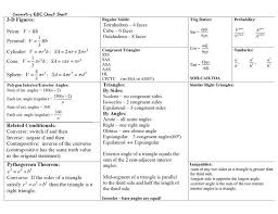 Cheat Eoc Formulas Geometry Probabil Regular Sheet