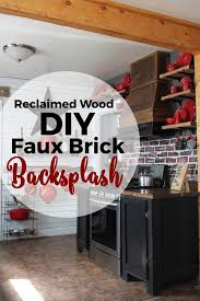 Paint Backsplash Interesting DIY Brick Backsplash Using Reclaimed Wood And Paint Scrapality