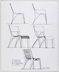chair design drawing. Five Designs For A Plywood Chair Showing Two Alternative Side Elevations, Perspective Views Design Drawing E