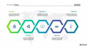 Chart Visualization Five Steps Workflow Process Chart Template Business Data