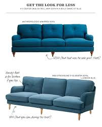 get the look for less blue english roll arm sofa