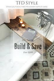 diy wooden bathtub caddy tutorial 15 diy table