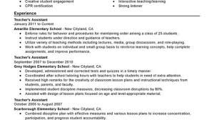 resume for teachers assistant unforgettable assistant teacher resume examples to stand out