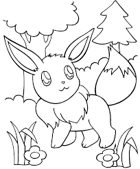 Small Picture Excellent Eevee Coloring Pages Colorings Desig 3145 Unknown