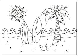 Download free online colouring in activity pages, sheets and worksheets for kids and adults. A Beach Scene Coloring Page Summer Coloring Pages Summer Coloring Sheets Beach Coloring Pages