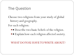 dr afxendiou sachem north high school thematic essay ppt  the question choose two religions from your study of global history and geography