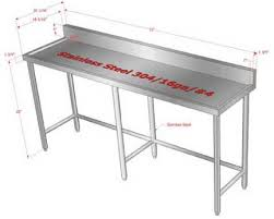 Commercial Kitchen Stainless Steel Tables Customized Stainless Steel Work  Prep Tables Concept