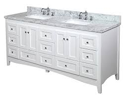 white bathroom vanities with marble tops. Abbey Double Bathroom Vanity (Carrara/White): Includes White Shaker Style Cabinet With Soft Close Drawers, Authentic Italian Carrara Marble Top, Vanities Tops E