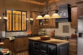 design classic lighting. Kitchen:Classic Lighting Kitchen Decor With Rectangle Wood Island And L Shape Brown Design Classic