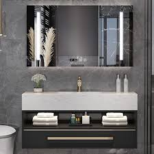 nordic bathroom cabinet combination