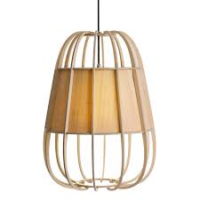 pendant lamp traditional birch bamboo nouveau