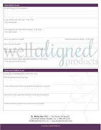 Pre Birth Plan Digital Pregnancy Intake Questionnaire Well Aligned Products
