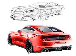Mustang Designer Ford Mustang Design Sketches By Kemal Curic Car Body Design
